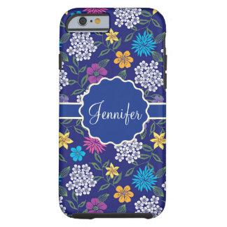 Coque Tough iPhone 6 Fleurs sauvages Girly de ressort et d'été, sur le