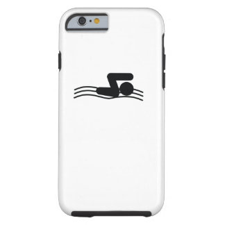 Coque Tough iPhone 6 Icône fraîche de sport du NAGEUR |