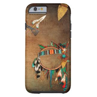Coque Tough iPhone 6 Indien de pointe de flèche de Natif américain