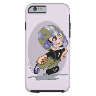 Coque Tough iPhone 6 iPhone 6/6s T de BANDE DESSINÉE du FOOTBALL de