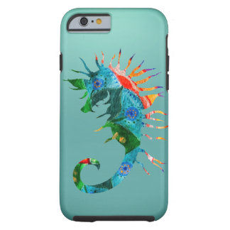 Coque Tough iPhone 6 iPhone coloré 6/6s d'art d'hippocampe, dur