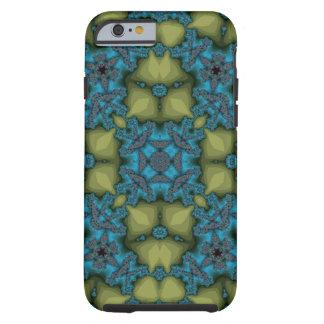 Coque Tough iPhone 6 Jaune bleu de motif abstrait