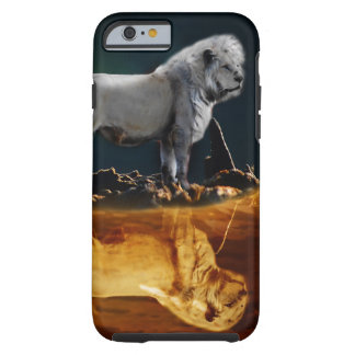 Coque Tough iPhone 6 Lion blanc gardant la nuit