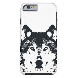 Coque Tough iPhone 6 Loup noir d'illustration