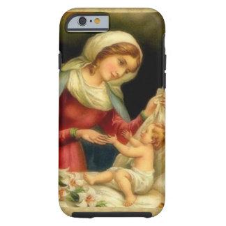 Coque Tough iPhone 6 Mère Mary de Vierge avec le bébé Jésus