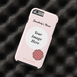 Coque Tough iPhone 6 Modèle rose de ruban de fleur par Kenneth Yoncich