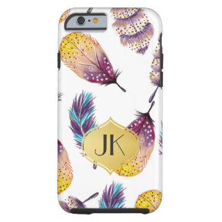 Coque Tough iPhone 6 Monogramme de Bohème chic et insouciant d'or
