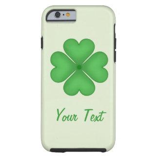 Coque Tough iPhone 6 Motif de coeurs de trèfle de feuille de shamrock