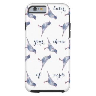 Coque Tough iPhone 6 Mots d'oiseaux