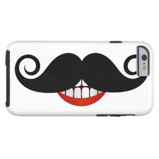 Coque Tough iPhone 6 Moustache bouclée et sourire d'amusement