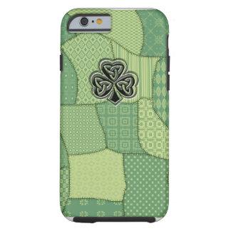 Coque Tough iPhone 6 Patchwork irlandais chanceux adorable de shamrock