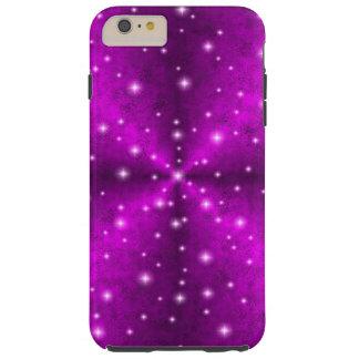 Coque Tough iPhone 6 Plus Arc-en-ciel rose dans l'optique de cuir de peau
