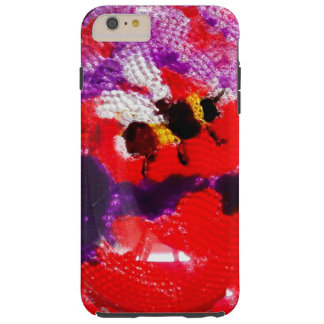 Coque Tough iPhone 6 Plus Art floral d'abeille de fleur