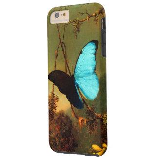Coque Tough iPhone 6 Plus Cru bleu de papillon de Martin Johnson Heade