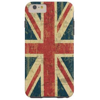 Coque Tough iPhone 6 Plus Cru d'Union Jack affligé