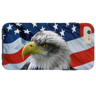 Coque Tough iPhone 6 Plus Drapeau américain chauve d'Eagle