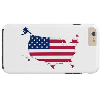 Coque Tough iPhone 6 Plus Drapeau-Carte des Etats-Unis