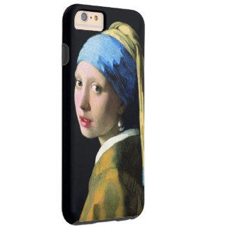 Coque Tough iPhone 6 Plus Fille de janv. Vermeer avec un art de cru de