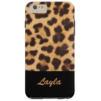 Coque Tough iPhone 6 Plus Fourrure animale d'empreinte de léopard