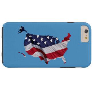 Coque Tough iPhone 6 Plus Les Etats-Unis marquent la carte