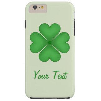 Coque Tough iPhone 6 Plus Motif de coeurs de trèfle de feuille de shamrock