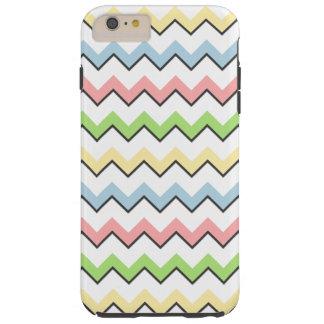 Coque Tough iPhone 6 Plus Ombre en pastel de Chevron-Baisse par Shirley