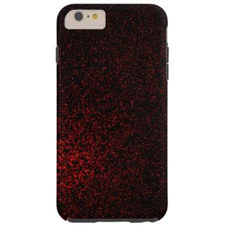 Coque Tough iPhone 6 Plus Parties scintillantes noires rouges modernes Girly