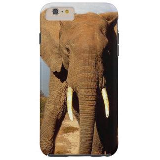 Coque Tough iPhone 6 Plus Sortie de jour de plage d'éléphant,