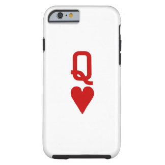 Coque Tough iPhone 6 Reine de cas dur de l'iPhone 6/6S de coeurs