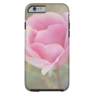 Coque Tough iPhone 6 Rose de rose avec la texture peinte