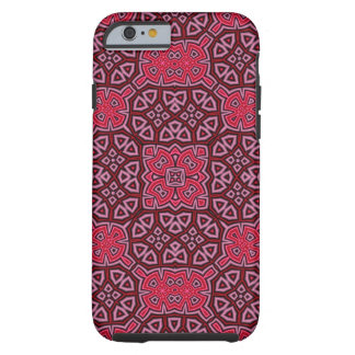 Coque Tough iPhone 6 Rouge abstrait de motif
