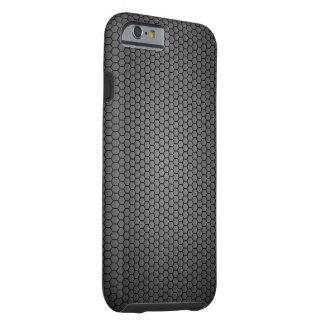 Coque Tough iPhone 6 Texture de fibre de carbone de nid d'abeilles