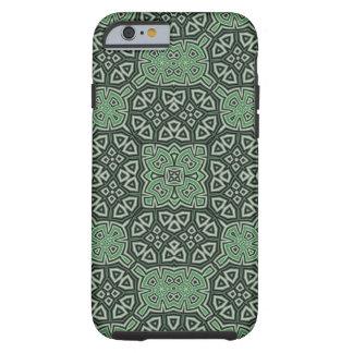 Coque Tough iPhone 6 Vert abstrait de motif