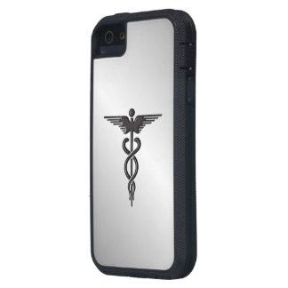 Coque Tough Xtreme iPhone 5 Caducée médical argenté