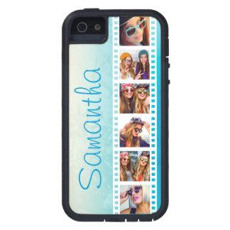 Coque Tough Xtreme iPhone 5 Caisse grunge bleue à la mode Girly de l'iPhone 5