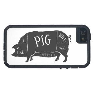Coque Tough Xtreme iPhone 5 J'aime des bouts de porc et je ne peux pas me