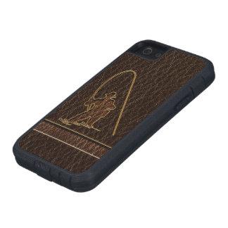 Coque Tough Xtreme iPhone 5 Obscurité simili cuir de pêcheur