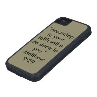 """Coque Tough Xtreme iPhone 5 """"Selon votre foi"""" Iphone 5/5S et cellule de Se"""