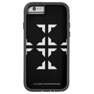 Coque Tough Xtreme iPhone 6 Caisse noire et blanche de téléphone de Ninja
