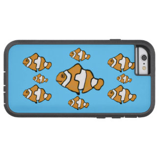 Coque Tough Xtreme iPhone 6 Cas d'IPhone 5 de motif de Clownfish