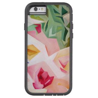 Coque Tough Xtreme iPhone 6 Cas floral abstrait rose de l'iPhone 6