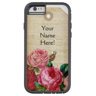 Coque Tough Xtreme iPhone 6 Cas floral vintage de téléphone d'étiquette