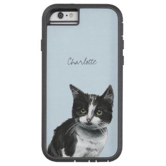 Coque Tough Xtreme iPhone 6 Dessin noir et blanc de chaton