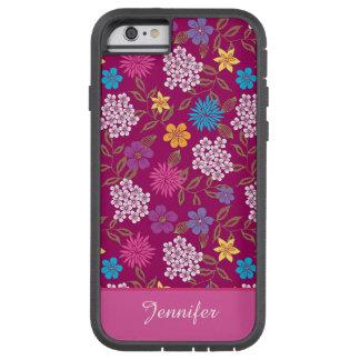 Coque Tough Xtreme iPhone 6 Fleurs sauvages Girly de ressort et d'été, nom