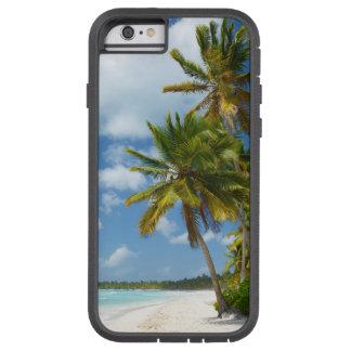 Coque Tough Xtreme iPhone 6 L'eau tropicale de turquoise de plage et paumes