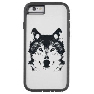 Coque Tough Xtreme iPhone 6 Loup noir d'illustration