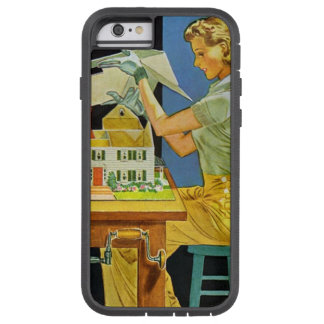 Coque Tough Xtreme iPhone 6 Modèles miniatures de Chambre d'architecte vintage
