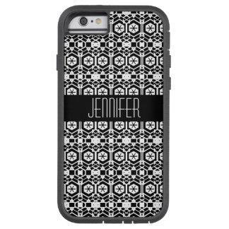 Coque Tough Xtreme iPhone 6 Motif abstrait noir et blanc d'hexagone