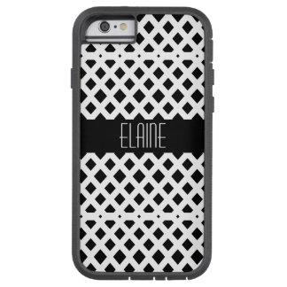 Coque Tough Xtreme iPhone 6 Motif noir et blanc de diamant