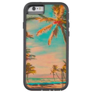 Coque Tough Xtreme iPhone 6 Plage hawaïenne vintage/sarcelle d'hiver de